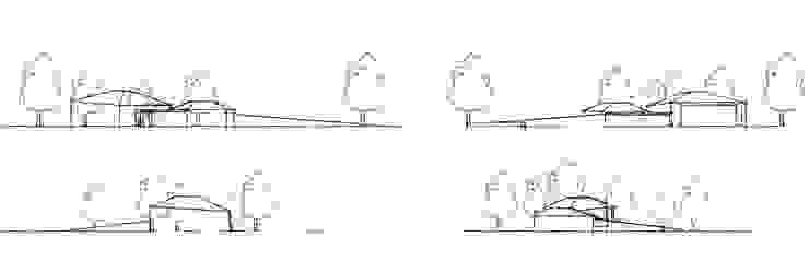 Concept sketches Maisons modernes par guy taylor associates Moderne Bois Effet bois