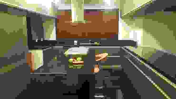 Perspectiva cocina. Cocinas de estilo moderno de homify Moderno Madera Acabado en madera