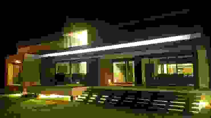 Perspectiva fachada posterior Casas modernas: Ideas, diseños y decoración de homify Moderno Ladrillos