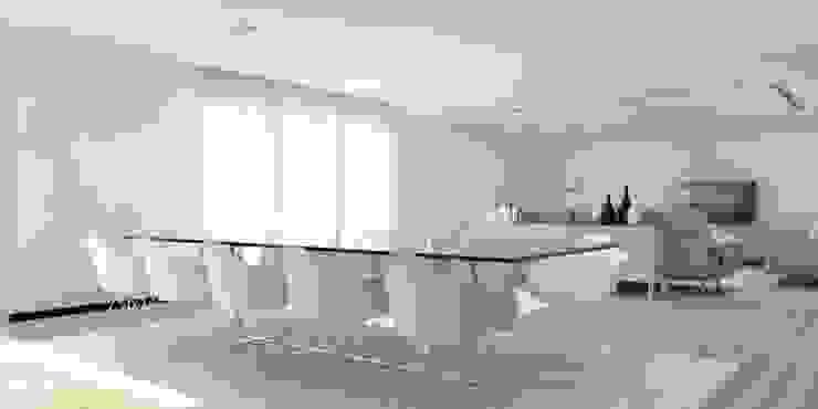 Moradia – Vila Verde Salas de jantar modernas por Equevo - Interiores Design Moderno