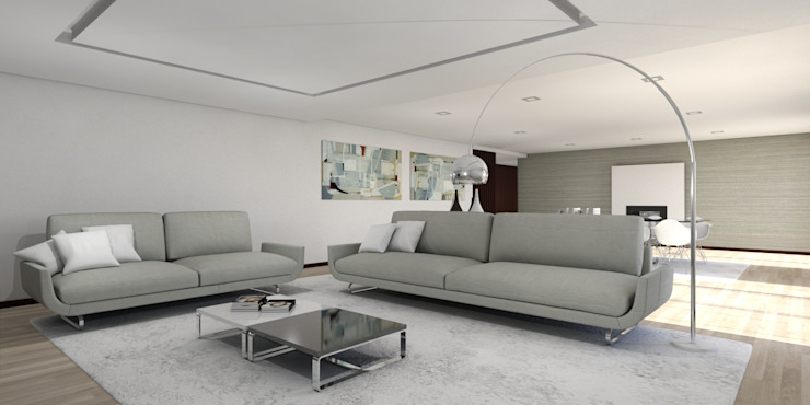 Moradia – Vila Verde Salas de estar modernas por Equevo - Interiores Design Moderno