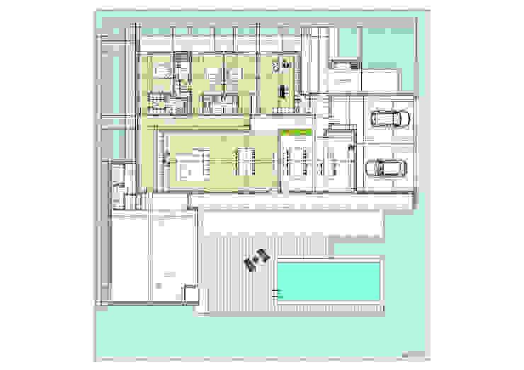 Moradia – Vila Verde Quartos modernos por Equevo - Interiores Design Moderno