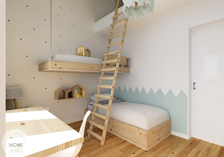 Scandinavian style nursery/kids room by homify Scandinavian