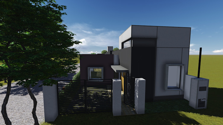 Casa para artista y arquitecto Casas minimalistas de Estudio de arquitectura MSM (Mar del Plata+Balcarce+Tandil) Minimalista Contrachapado