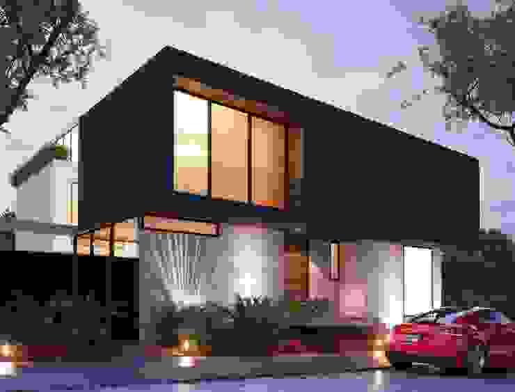 residencial Casas minimalistas de Oriente Arquitectos Minimalista Azulejos