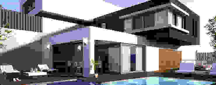 casa habitacion Casas minimalistas de Oriente Arquitectos Minimalista Azulejos