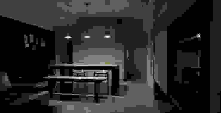 モダンデザインの リビング の AIRS 艾兒斯國際室內裝修有限公司 モダン