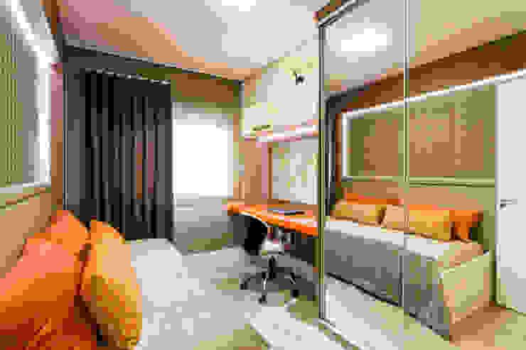 غرفة نوم تنفيذ Apê 102 Arquitetura