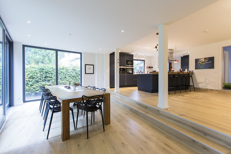Ruang Makan Modern Oleh Architekturbüro Prell und Partner mbB Architekten und Stadtplaner Modern