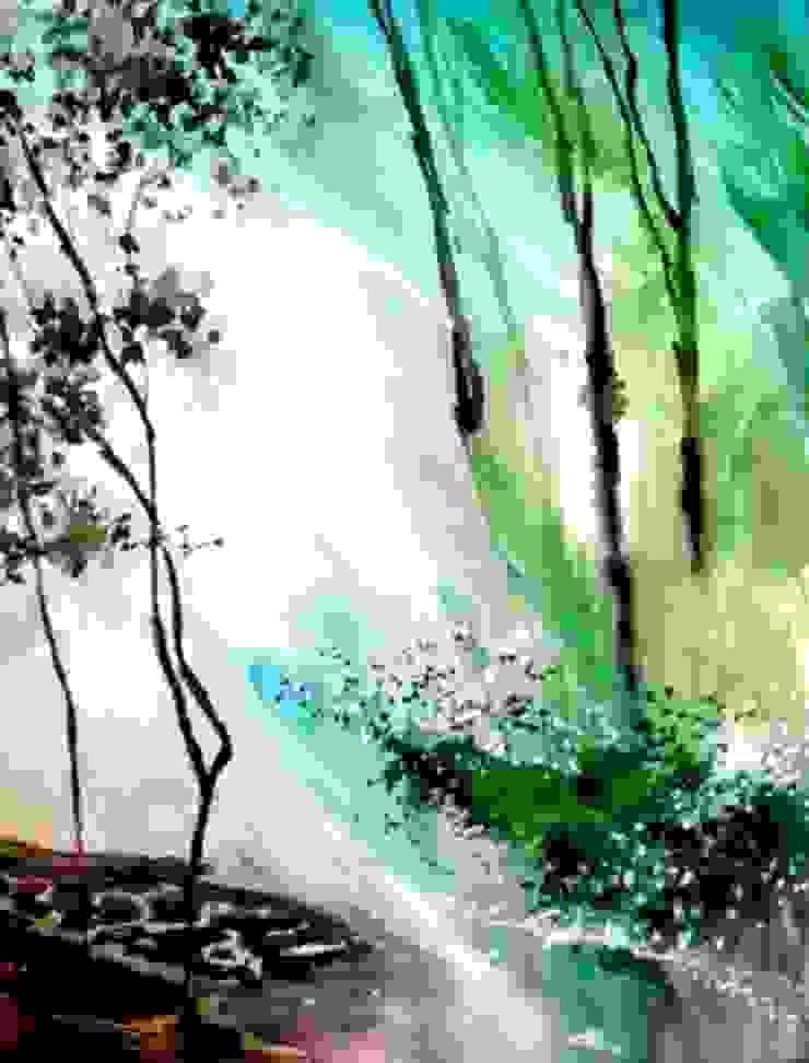Falling Light: modern  by Indian Art Ideas,Modern