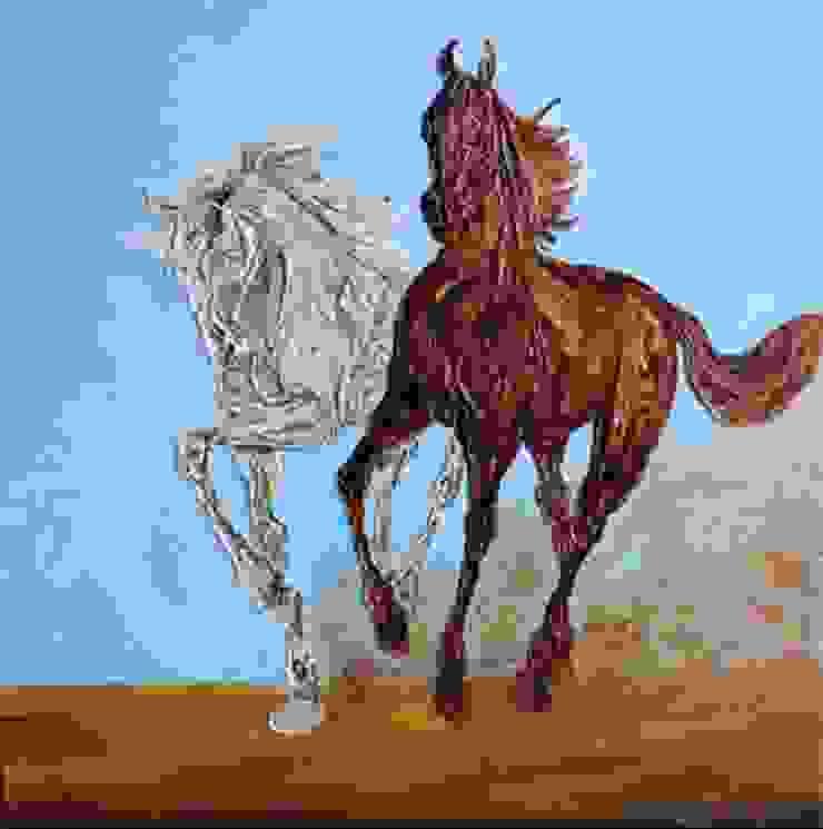 Galloping horses- 17: modern  by Indian Art Ideas,Modern