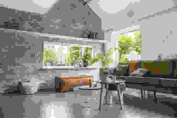 Industriële bakstenen muur in huis! van StonePress Industrieel