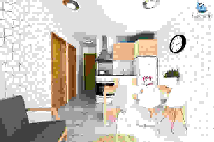 Cocina Comedor Integrados Comedores de estilo moderno de NidoSur Arquitectos - Valdivia Moderno