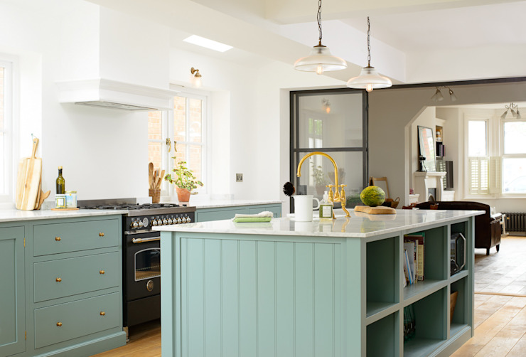 The Trinity Blue Kitchen by deVOL deVOL Kitchens Scandinavian style kitchen Blue