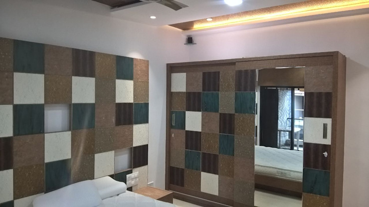 Mr. Kirit Kumar Modern style bedroom by i'studio creative Modern OSB