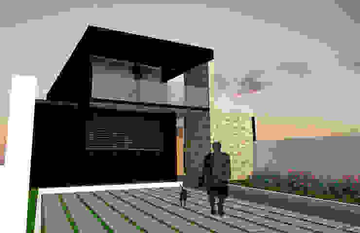 ENTRADA Y FACHADA Casas estilo moderno: ideas, arquitectura e imágenes de Gen Arquitectura & Diseño Moderno Piedra
