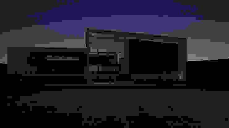 VISTA NOCTURNA de Gen Arquitectura & Diseño Minimalista Piedra