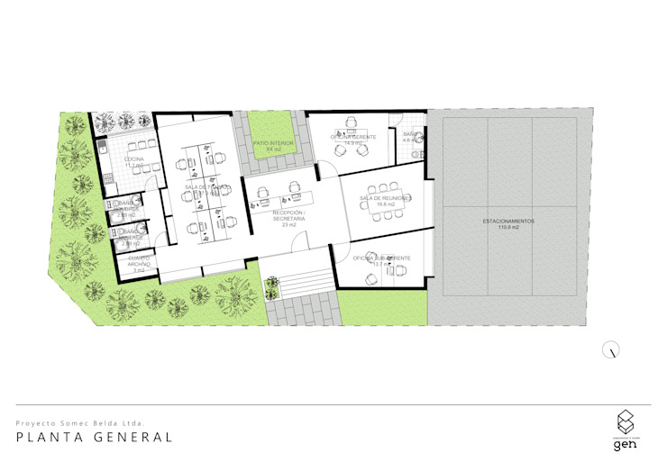 PLANTA ARQUITECTURA de Gen Arquitectura & Diseño Minimalista