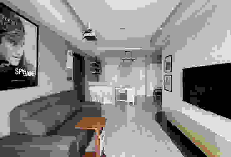Ruang Keluarga oleh 思維空間設計  , Skandinavia