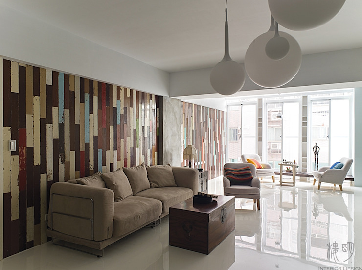 The Wall 根據 禾光室內裝修設計 ─ Her Guang Design 工業風 實木 Multicolored