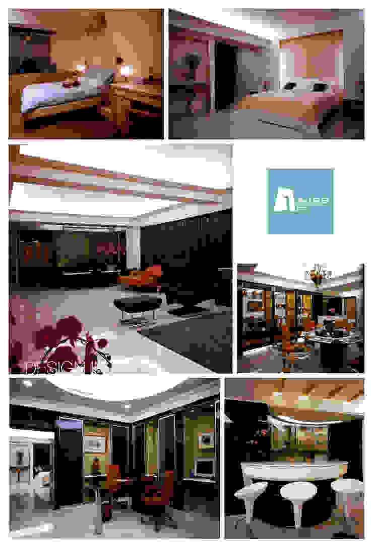 福益藏鋒 现代客厅設計點子、靈感 & 圖片 根據 AIRS 艾兒斯國際室內裝修有限公司 現代風