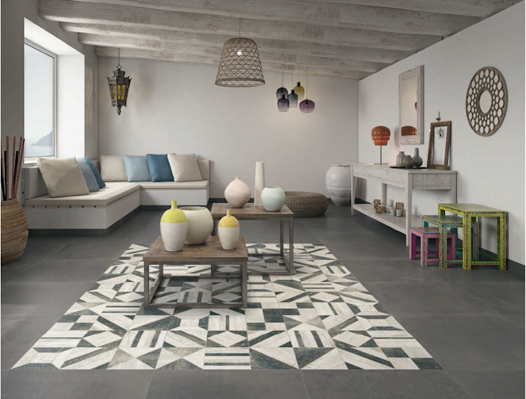 Verde y Madera Floors Ceramic Grey