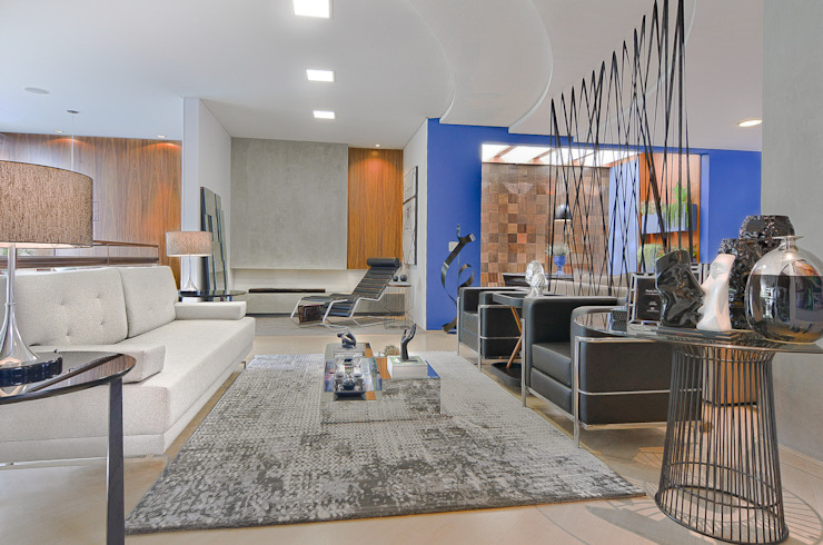 Sgabello Interiores Minimalist living room Concrete Black