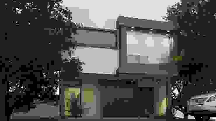 FACHADA PRINCIPAL Casas modernas de EKA ARQUITECTURA Moderno