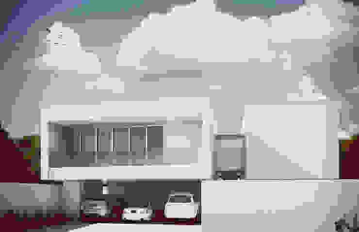 Fachada de Acceso Casas minimalistas de Estudio Volante Minimalista