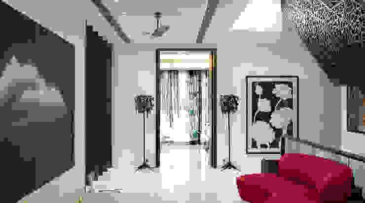 Traveler's House Modern living room by Morphogenesis Modern Marble