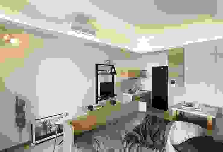 Salas de estilo minimalista de 禾光室內裝修設計 ─ Her Guang Design Minimalista