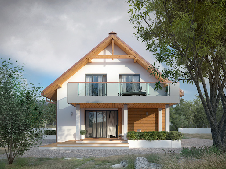 Biuro Projektów MTM Styl - domywstylu.pl Modern Houses