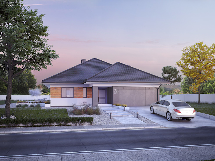 บ้านและที่อยู่อาศัย โดย Biuro Projektów MTM Styl - domywstylu.pl,