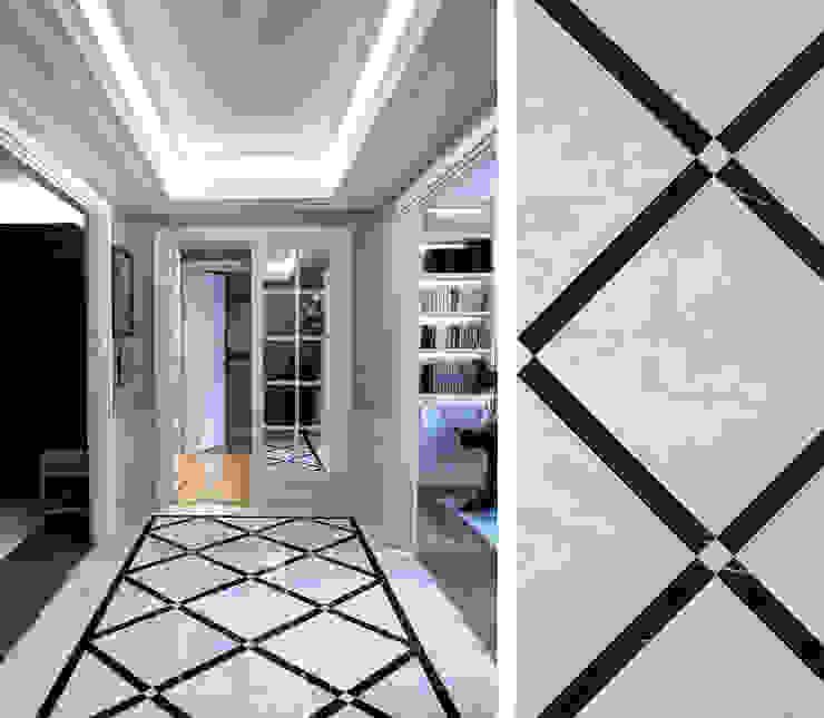 Klasyczny korytarz, przedpokój i schody od Gil Mamann Klasyczny