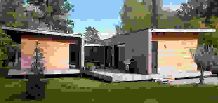 現代風玄關、走廊與階梯 根據 Hugues TOURNIER Architecte 現代風