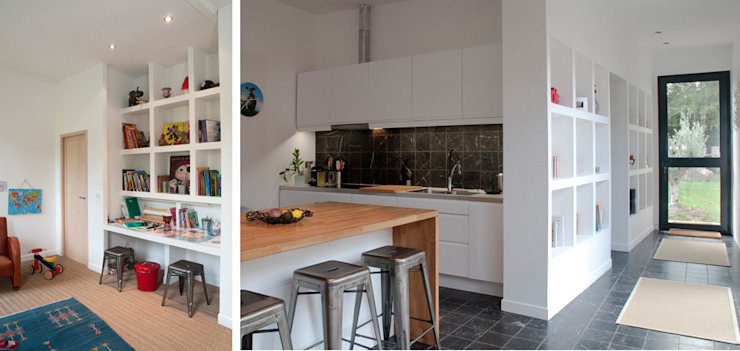 Modern Dining Room by Hugues TOURNIER Architecte Modern