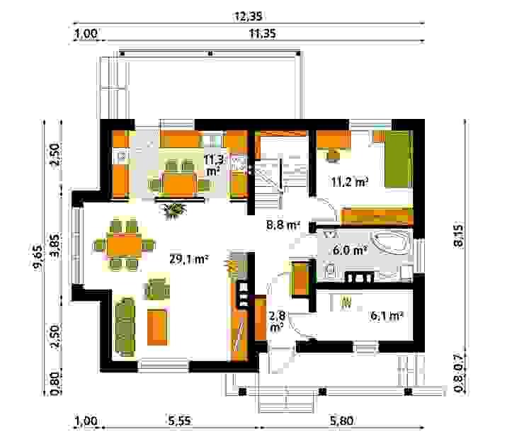 homify Dinding & Lantai Modern