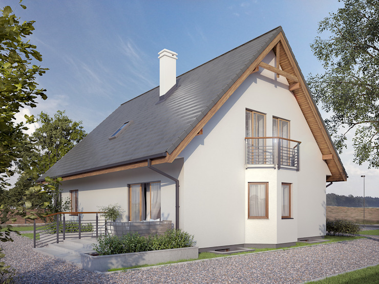 Häuser von Biuro Projektów MTM Styl - domywstylu.pl, Modern