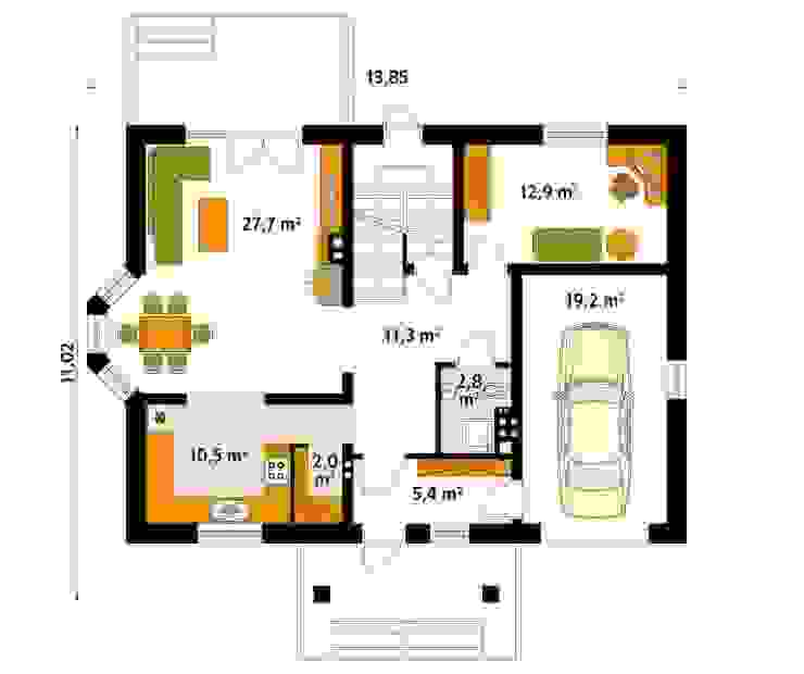 Moderne muren & vloeren van Biuro Projektów MTM Styl - domywstylu.pl Modern