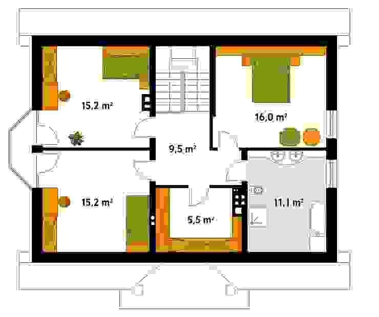 Modern Walls and Floors by Biuro Projektów MTM Styl - domywstylu.pl Modern