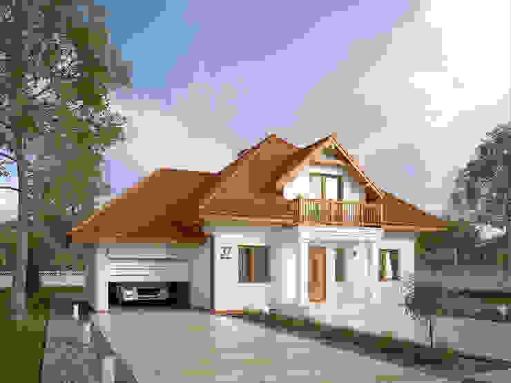 モダンな 家 の Biuro Projektów MTM Styl - domywstylu.pl モダン