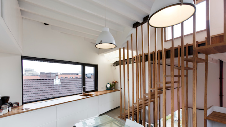 Wonen boven het maaiveld Moderne keukens van ARCHITECTUURBUREAU project.DWG Modern