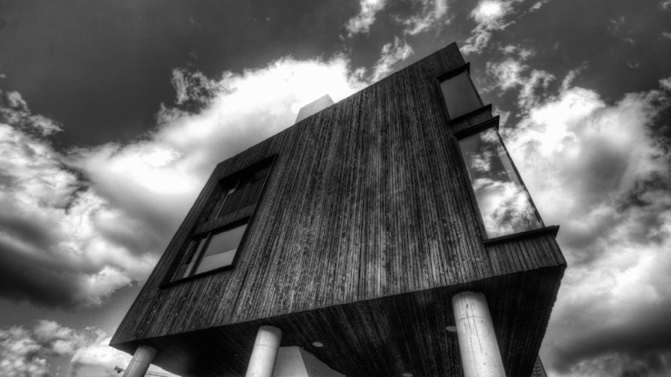 Wonen boven het maaiveld Moderne huizen van ARCHITECTUURBUREAU project.DWG Modern