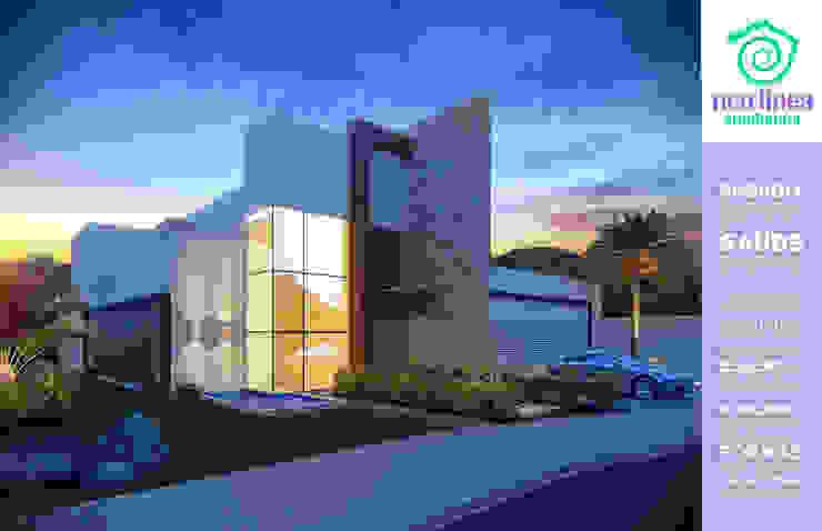 Fachada Frontal Casas modernas por NEO LINEA arquitetura criativa Moderno