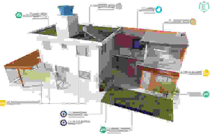 Casas de estilo  por Ecoeficientes, Rústico