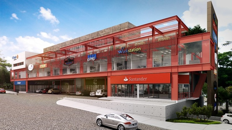 Plaza Comercial Roberto Garza Sada Casas modernas de Constructora GRCC Moderno Hierro/Acero