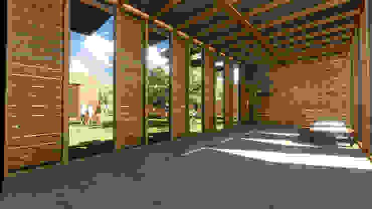 Arquitectura AG Salones de estilo rural Madera