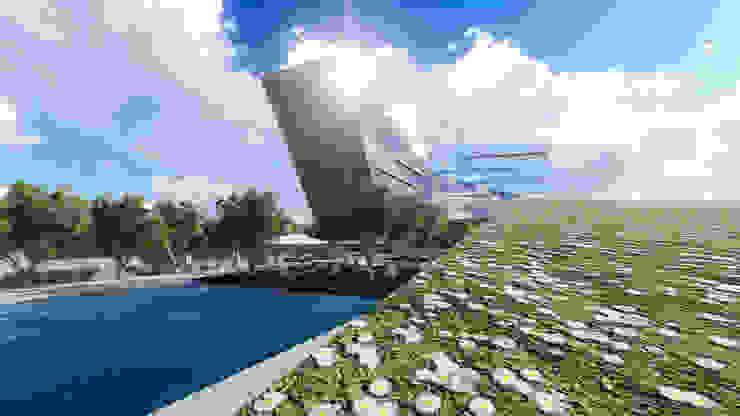 MALL – BUSINESS - HOUSING Centros comerciales de estilo moderno de Arquitectura AG Moderno