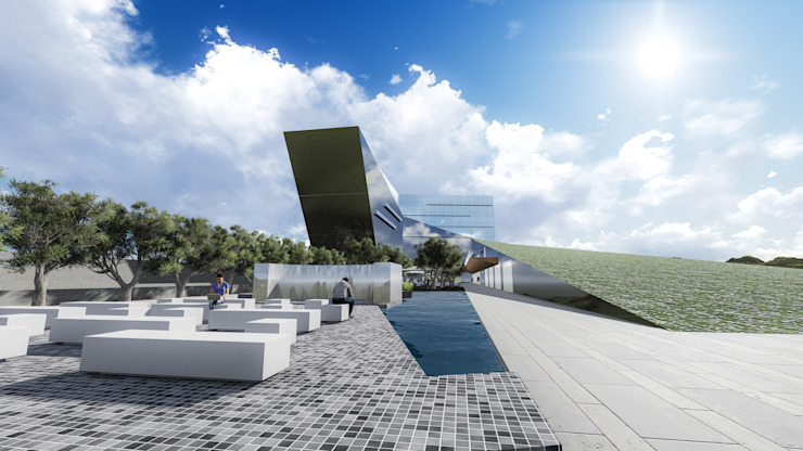 MALL – BUSINESS – HOUSING Centros comerciales de estilo moderno de Arquitectura AG Moderno