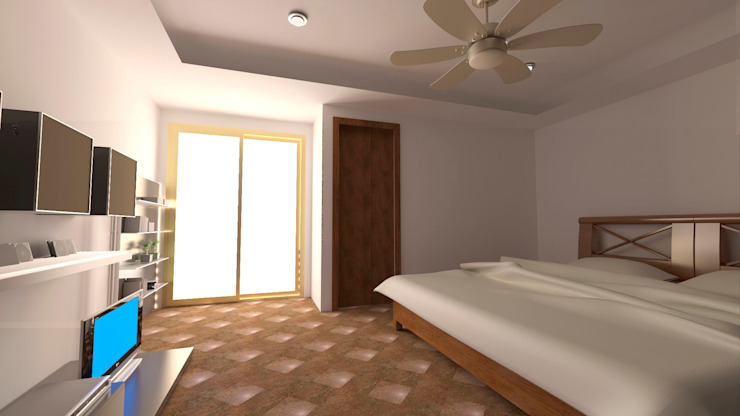 Modern style bedroom by M4X Modern Chipboard